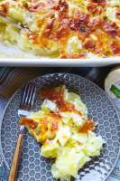scalloped potatoes recipe with cheese bacon and jalapeños!