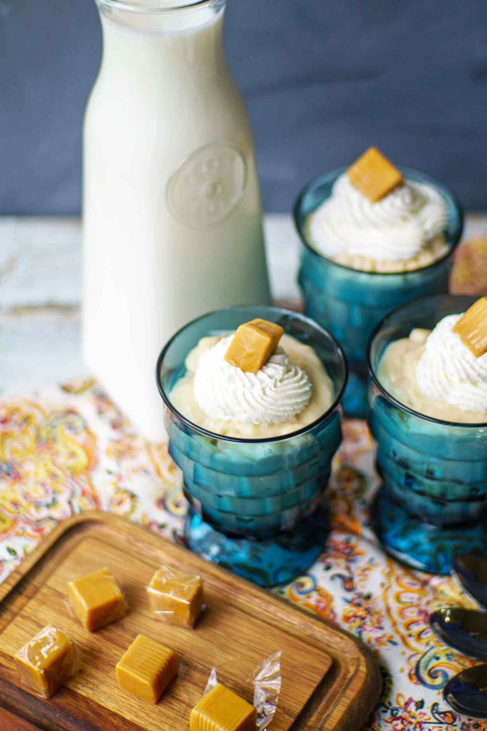 Easy to make vanilla caramel pudding