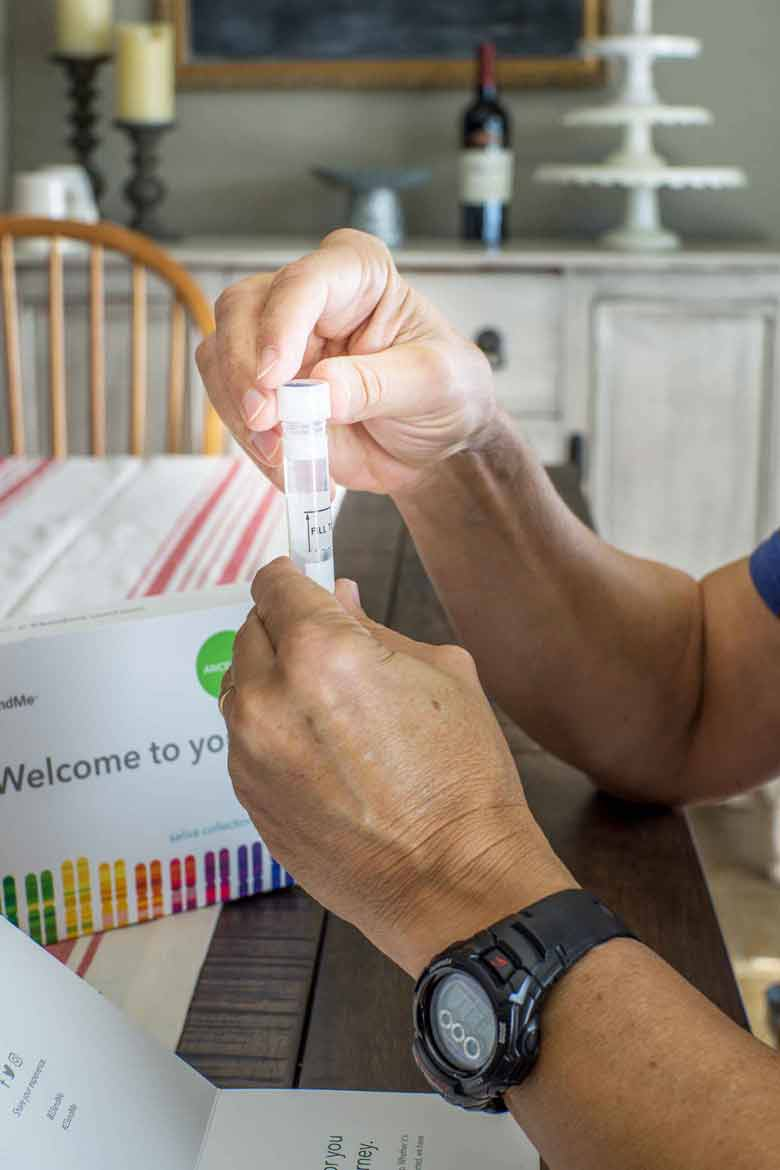 Twisting the lid on a DNA home test for ancestry