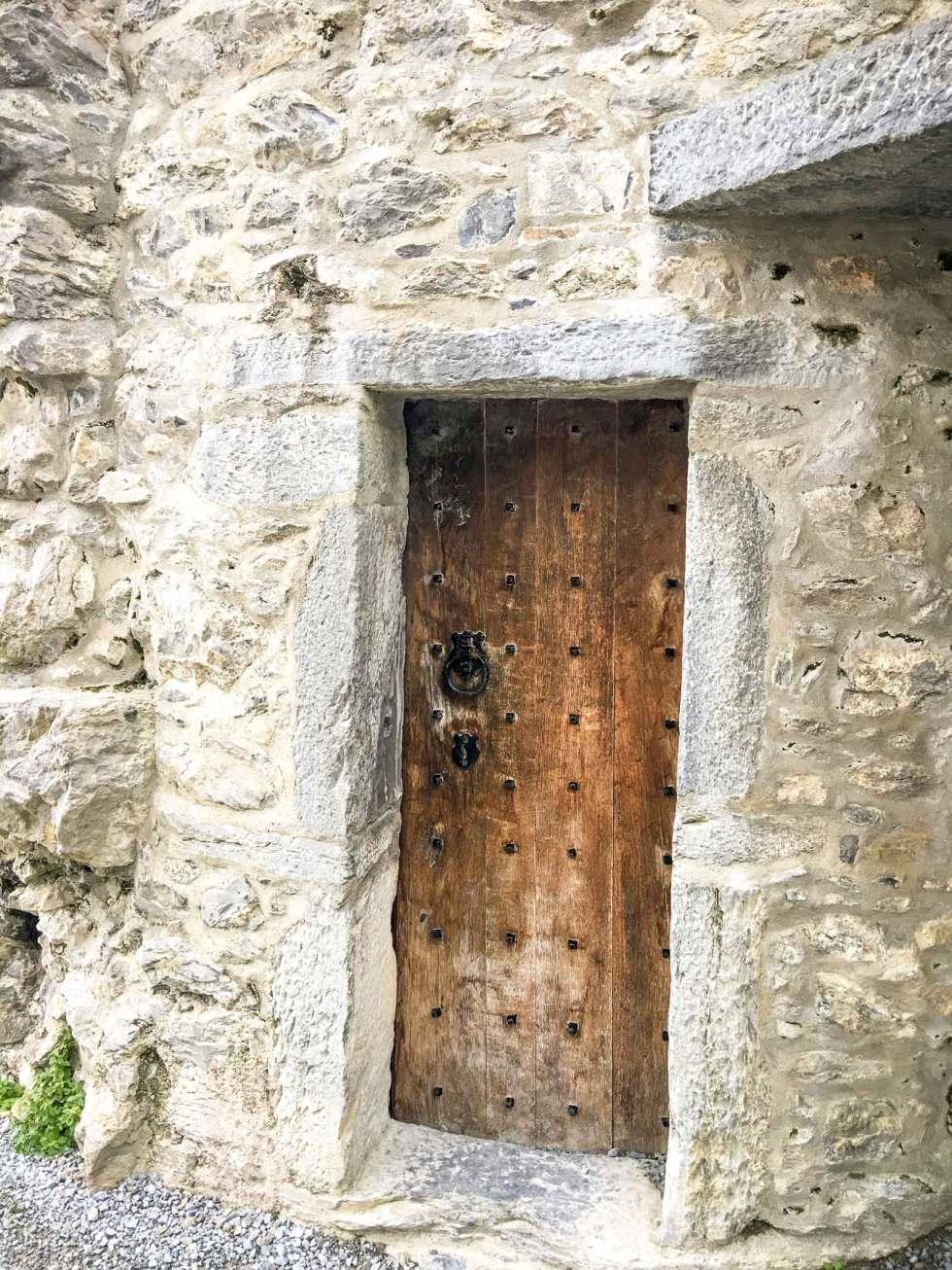 heavy door at Ross Castle Killarney