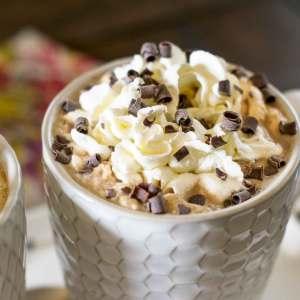 vanilla caramel mocha with whipped cream
