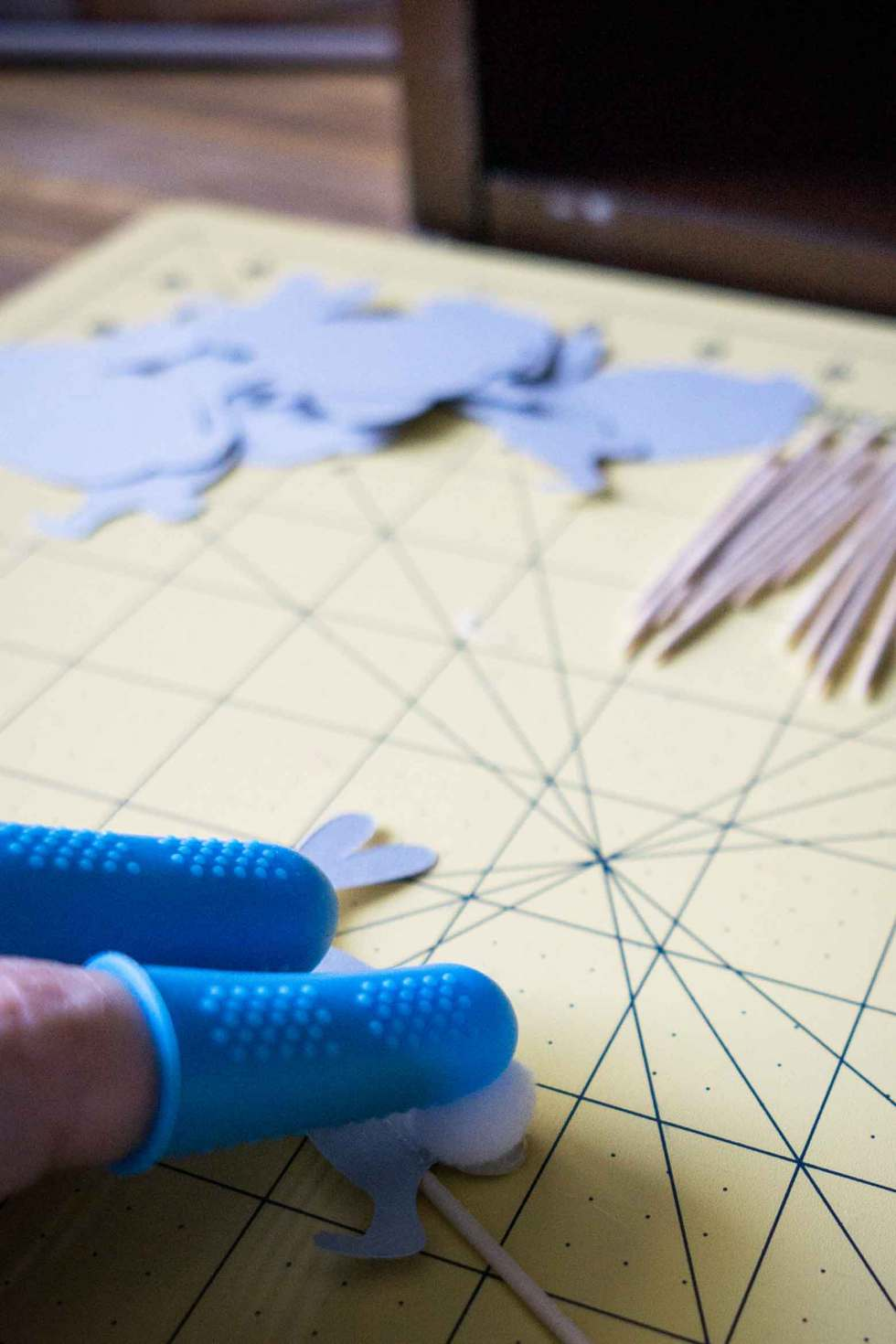 protect your fingers from hot glue with this clever gadget