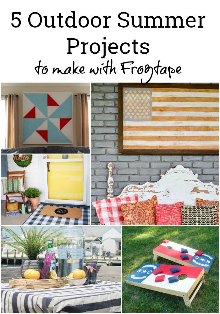 Summer Projects using Frog Tape that you'll want to make!