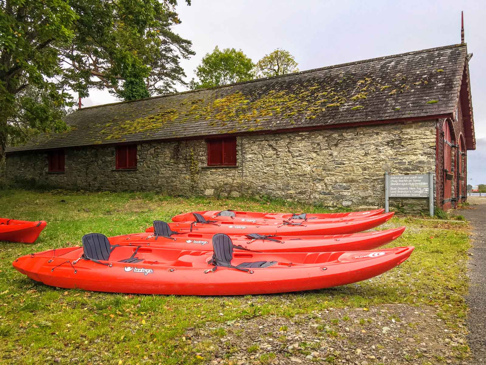 kayaks on Ross Island County Kerry