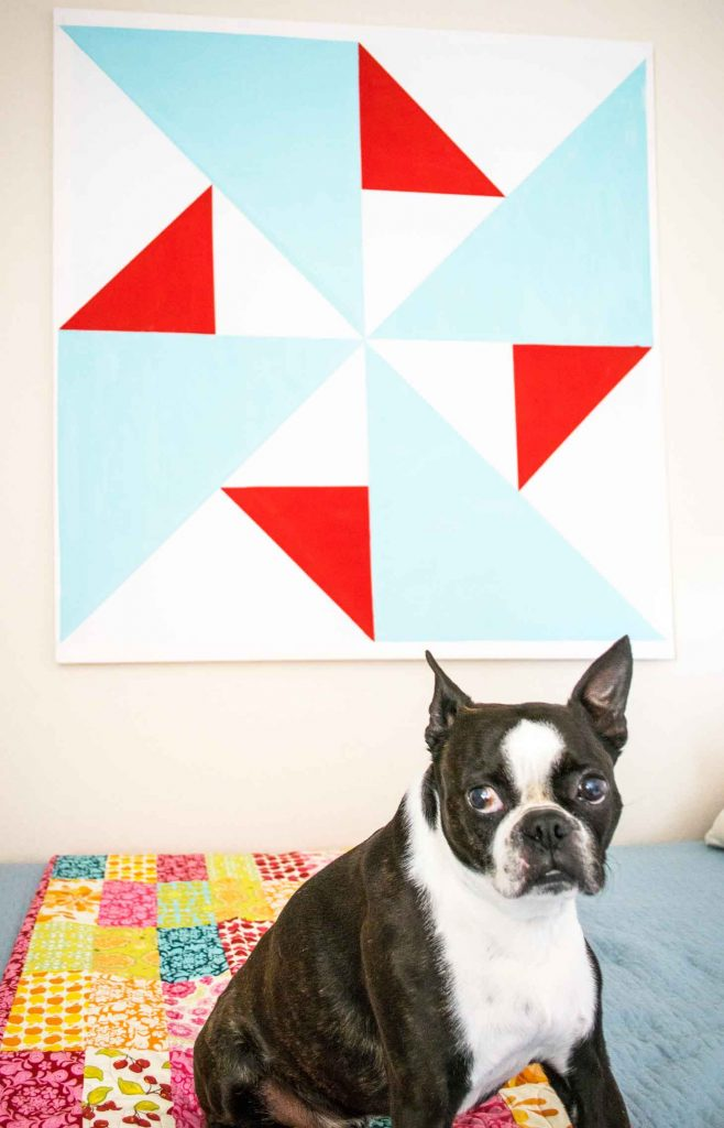 Oversized Canvas art is easy to make yourself
