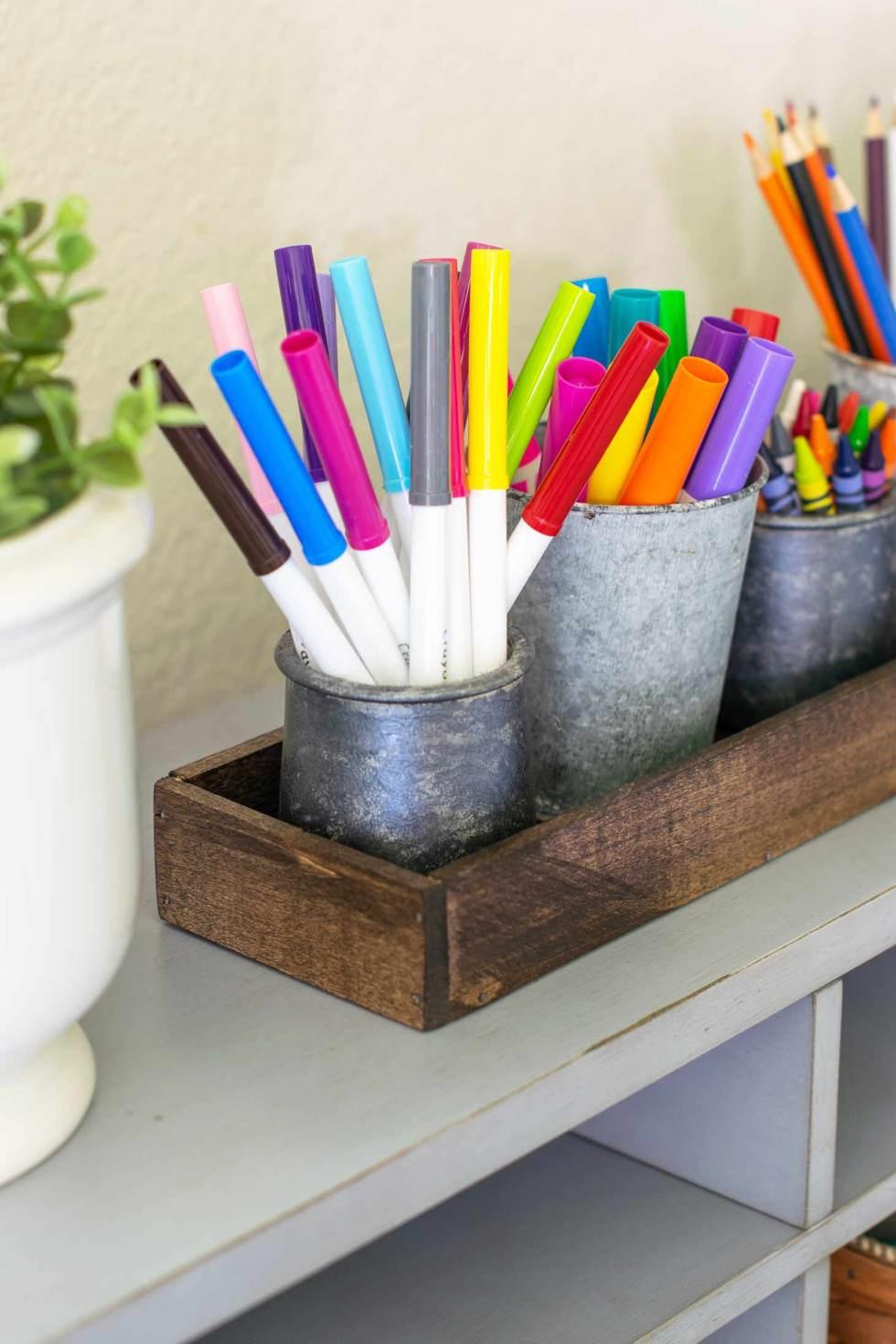 make back to school organization easy with this DIY organizer