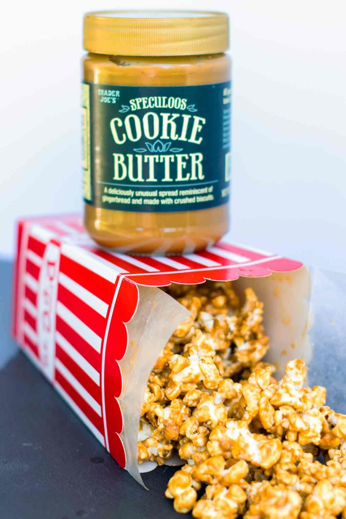 Trader Joes Cookie Butter Gourmet 5 minute popcorn recipe