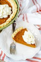 A fun twist on the traditional pie, this pumpkin pie filling features molasses as a main ingredient.