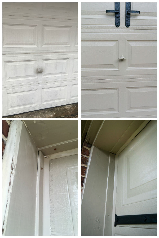 garage door photos before and after detail shots