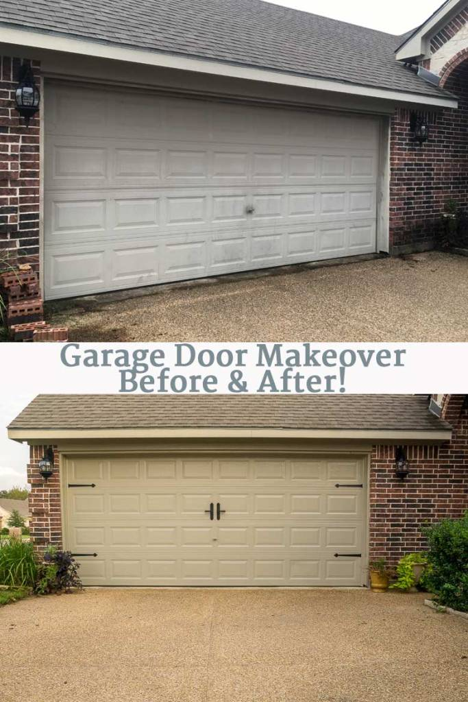 Diy Garage Door Makeover With Decorative Hardware Major