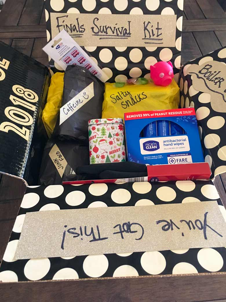 DIY a homemade Finals Survival kit for your favorite college student