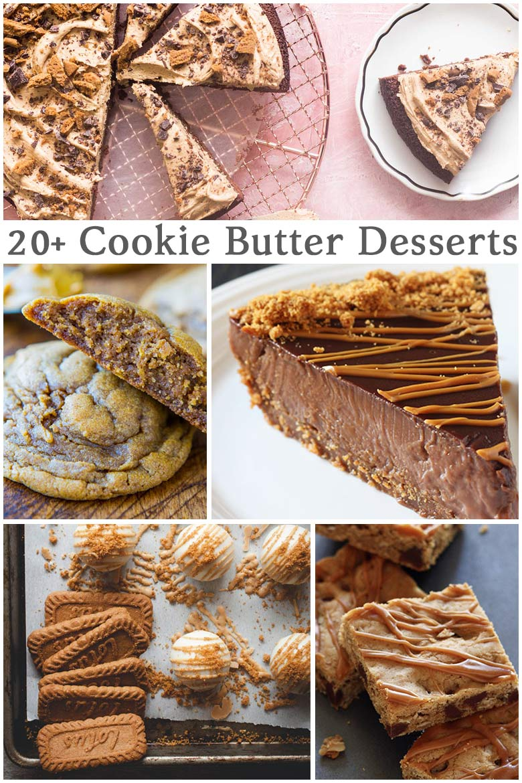 20 plus cookie butter desserts
