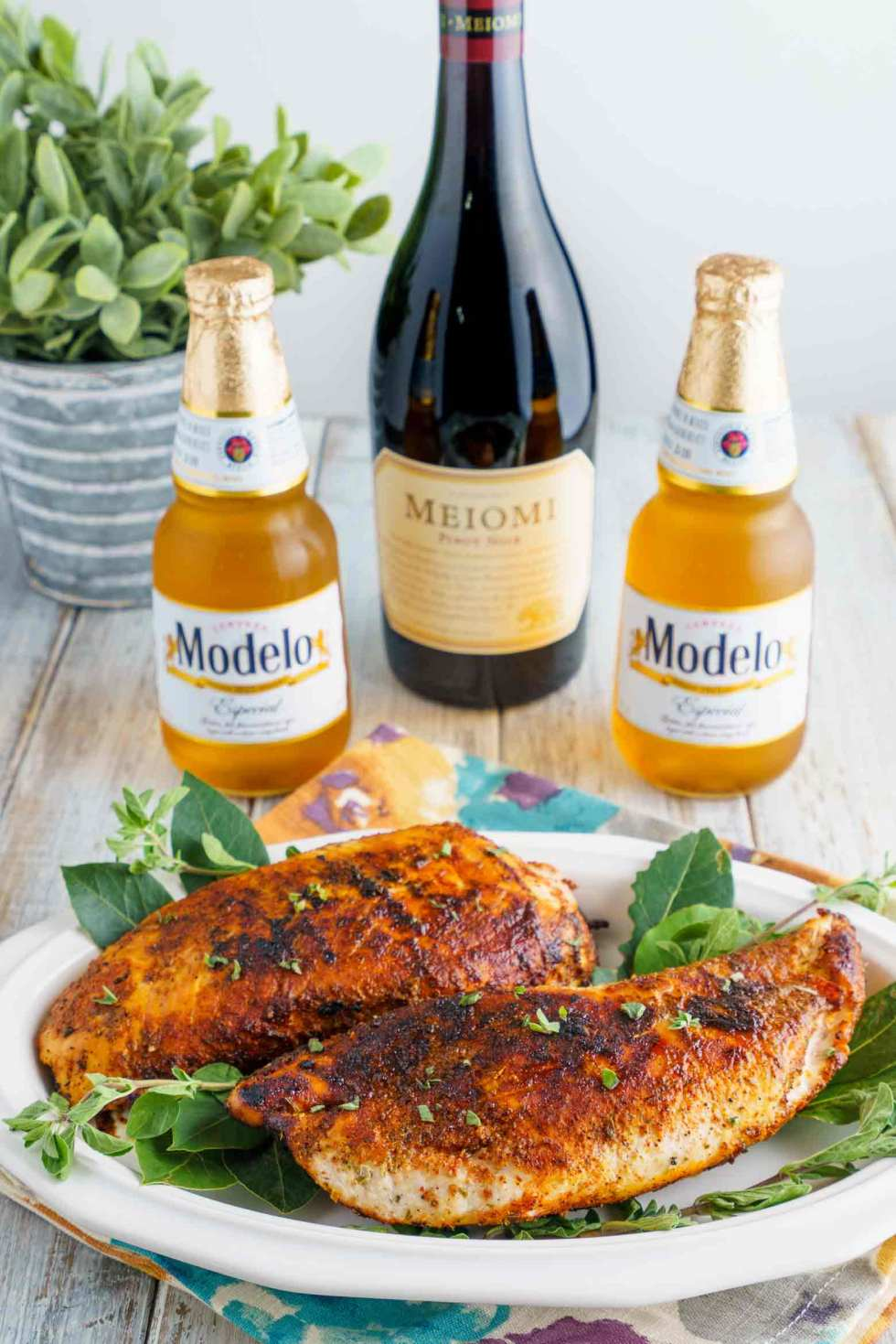 beer and wine paired with turkey