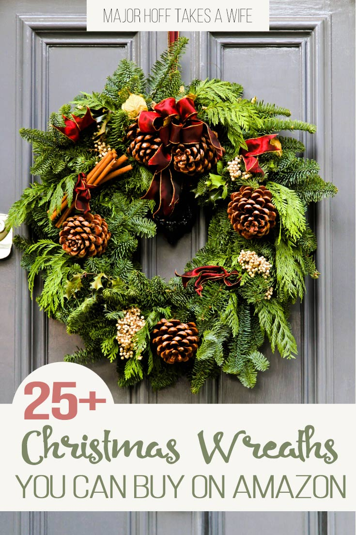Time to get your Christmas Decor shopping done! Let's make this year easier than the last by shopping online. This elaborate list shows the best wreaths on Amazon for Christmas! Giant selection for all decor types from country to modern, farmhouse to luxury, and of course all the classic evergreen wreaths we love! via @mrsmajorhoff