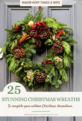 Time to get your Christmas Decor shopping done! Let's make this year easier than the last by shopping online. This elaborate list shows the best wreaths on Amazon for Christmas! Giant selection for all decor types from country to modern, farmhouse to luxury, and of course all the classic evergreen wreaths we love!