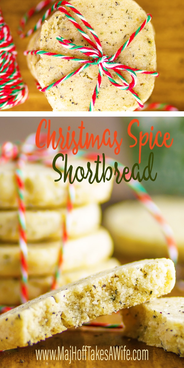 Scottish shortbread cookies with a Christmas twist! Filled with holiday spices like cinnamon, cloves and ginger! Learn the the best tips on how to make the most perfect shortbread cookies with this simple recipe! via @mrsmajorhoff