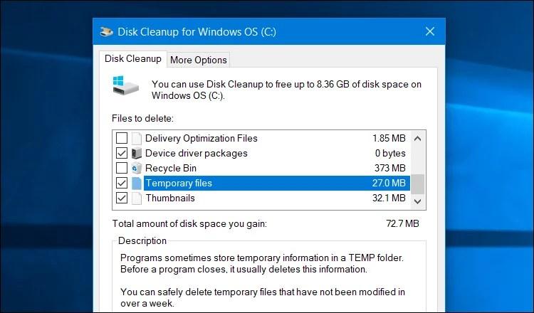التخلص من الملفات المؤقته فى ويندوز بـ 3 طرق لا تحتاج برامج