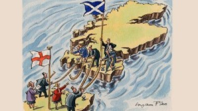 Scotland caricature