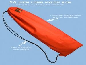 Le sac qui tient tout le kit en nylon robuste.