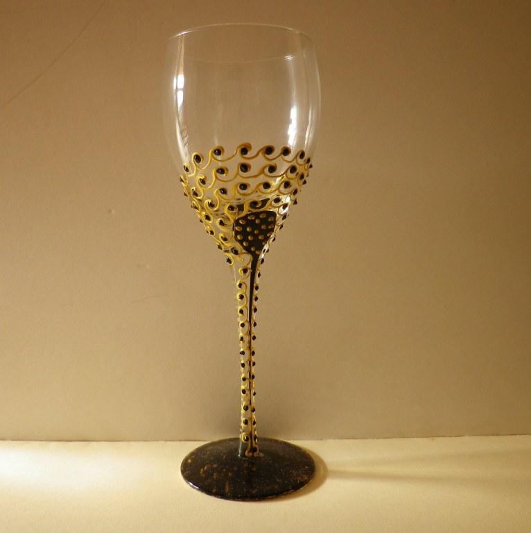verre a pied 31cl noir et or fiesta