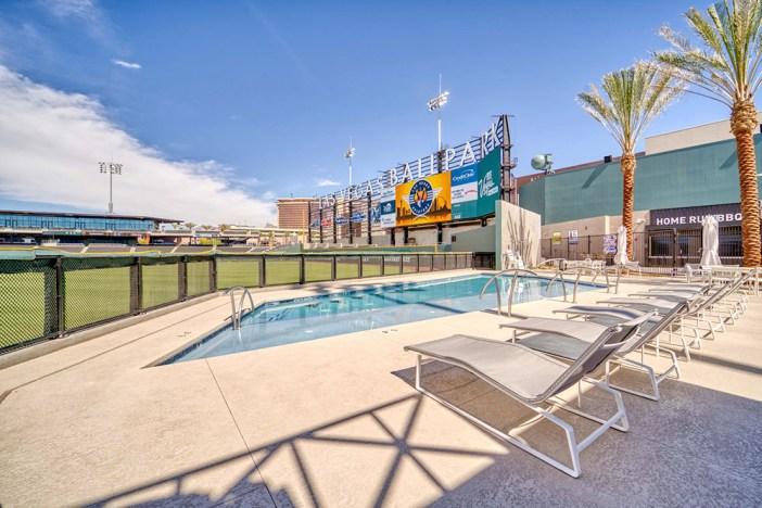 Las Vegas Ballpark sideline pool