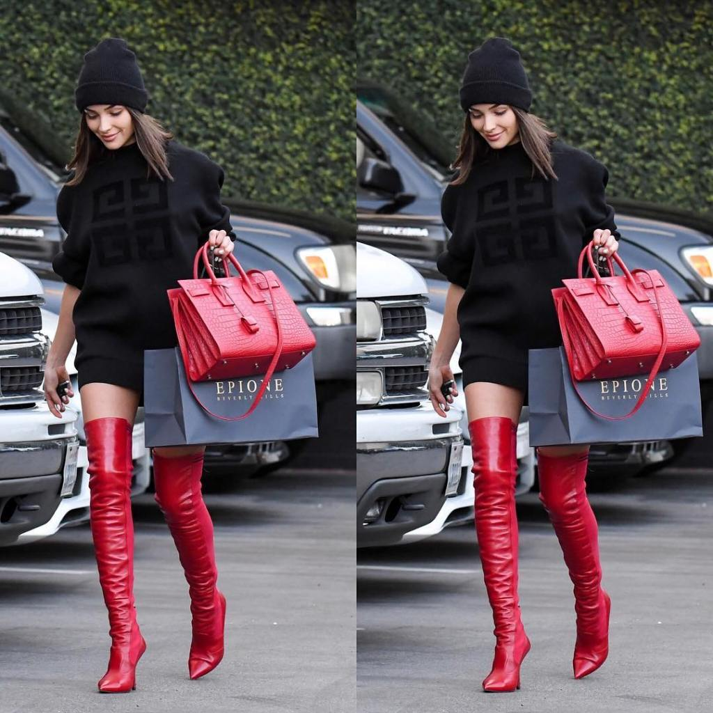Olivia Culpo thigh high boots - street style - 2, December 7
