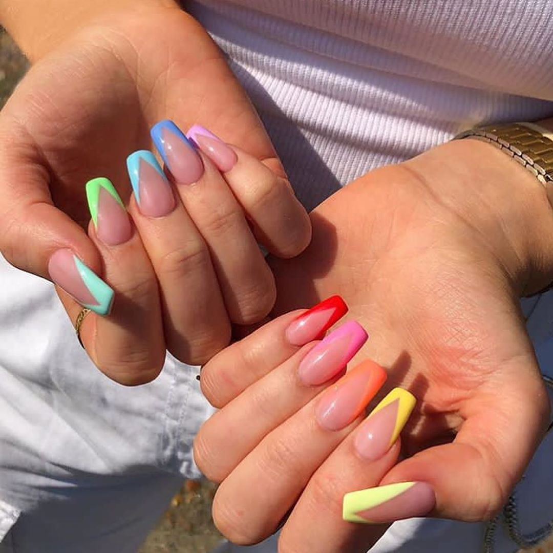 25 Latest French Tip Nail Art Designs Major Mag