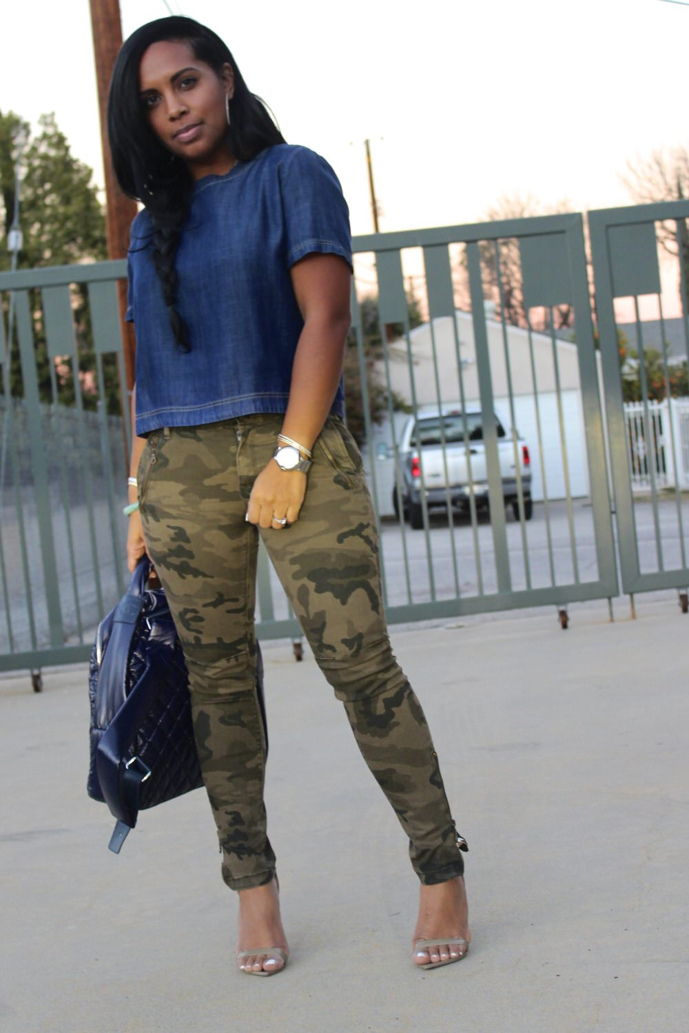 Outfit Camo Heel High Boots