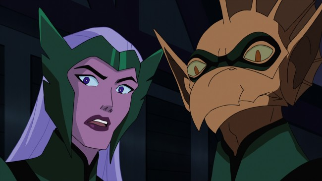 Boodikka (left) and Tomar-Re are two of the key players amongst the Green Lantern Corps in the next DC Universe animated original movie, Green Lantern: First Flight. (Click for larger image)