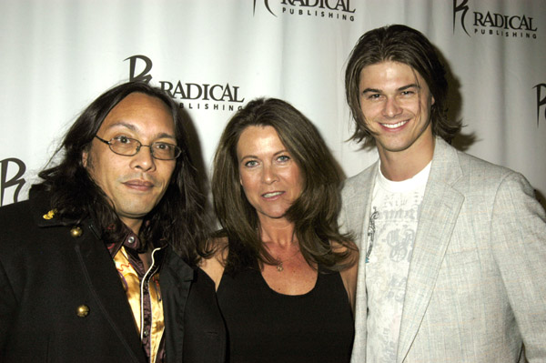 Sam Sarkar, Celia Sarkar and John Zopfi attend the Grand Opening of Radical Publishing held at the Radical Publishing offices on February 19, 2009 in Los Angeles, California.