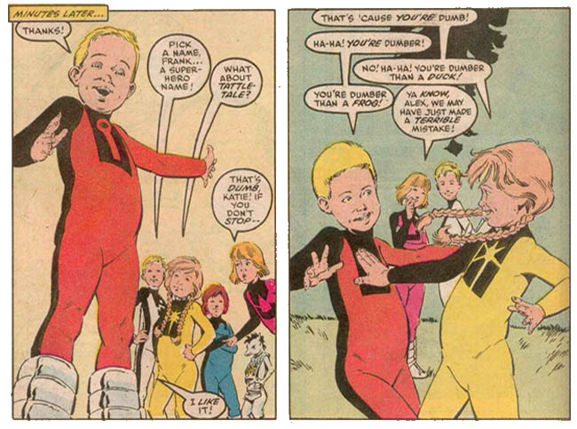 Image result for power pack comic 1980's family