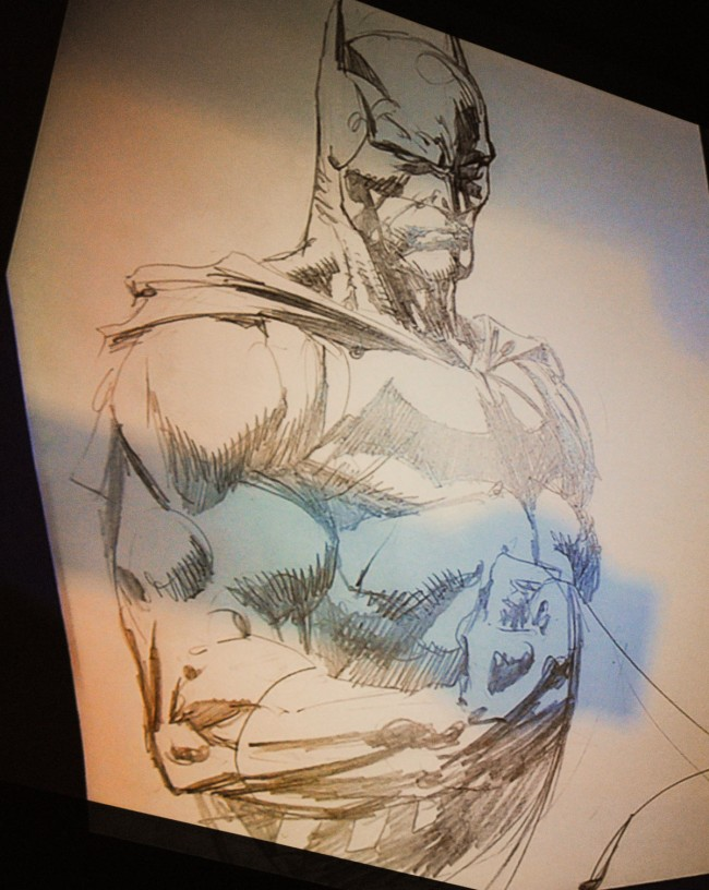 David Finch's completed Batman sketch