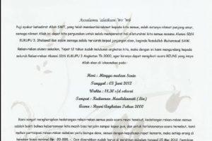 3 Contoh Surat Undangan Reuni Sekolah Keluarga Dan Fakultas