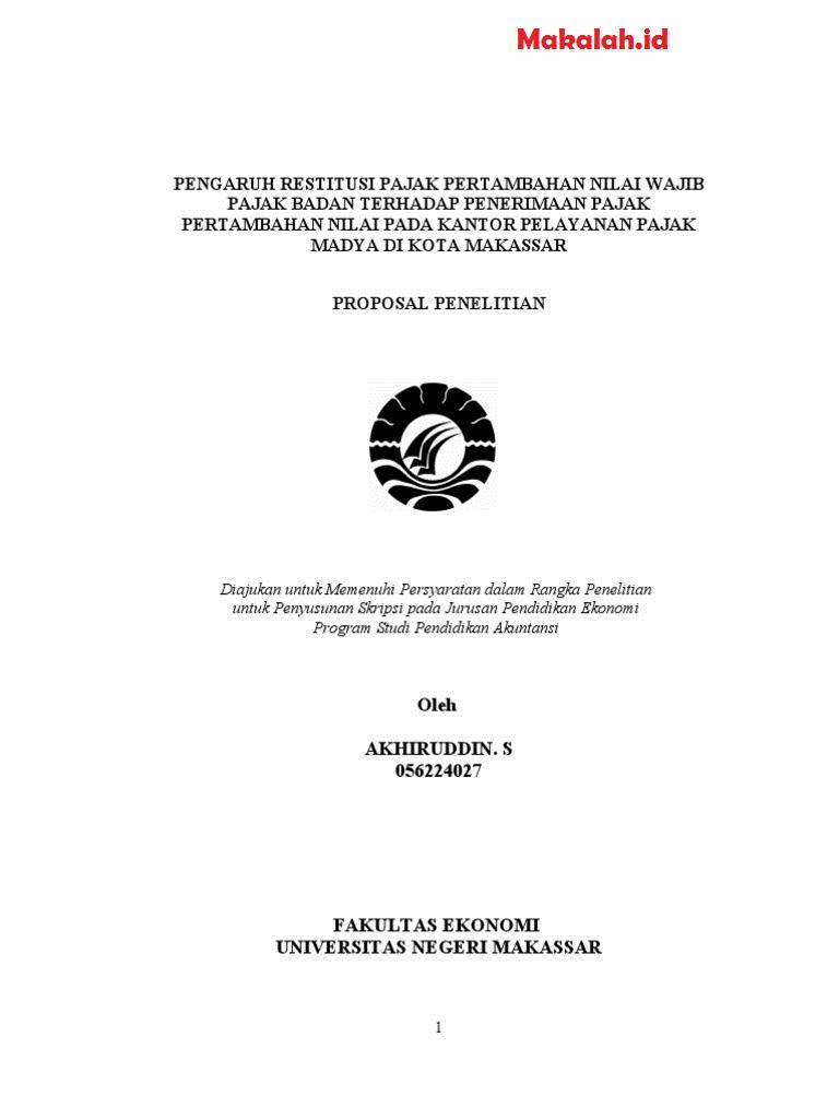 Skripsi Ptk Ekonomi Akuntansi Contoh Surat