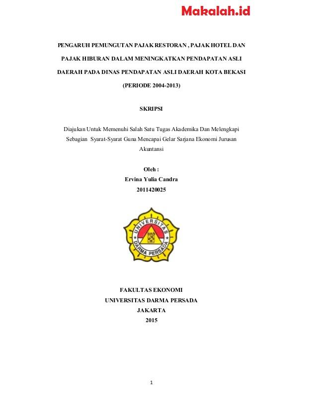 16 Judul Skripsi Akuntansi Sektor Publik Dan Perpajakan