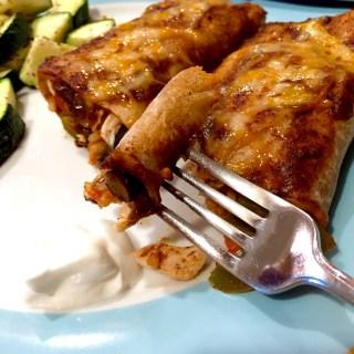 Loaded Chicken Enchiladas
