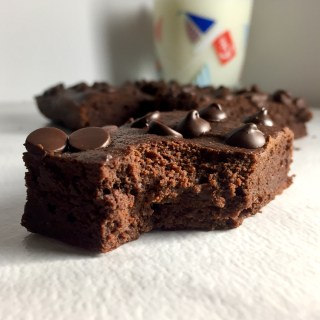 Double Dark Chocolate {Healthy} Brownies