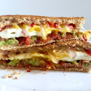 Egg, Bacon, Sun-dried Tomato, and Avocado Panini