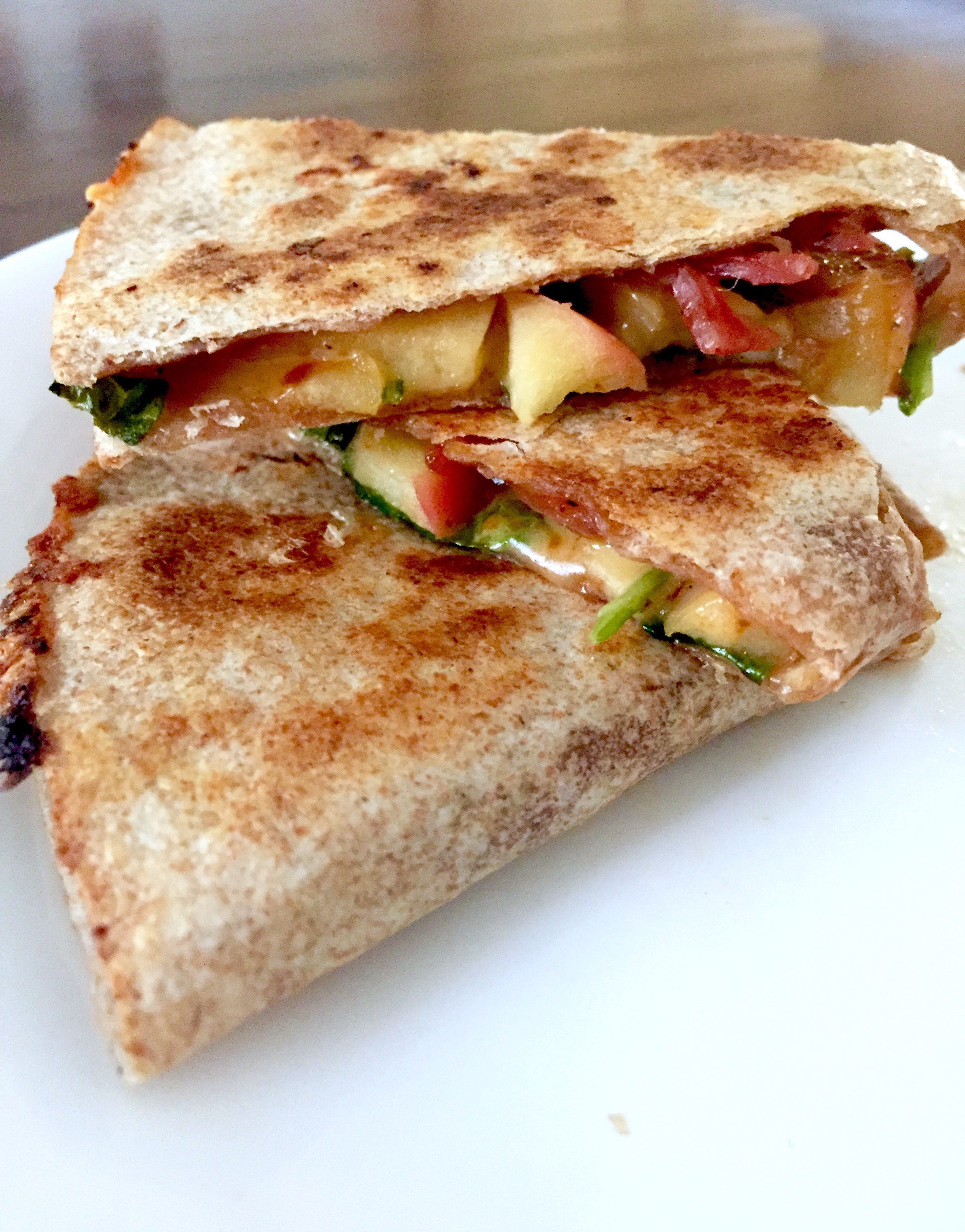 BBQ Bacon Apple Cheddar Quesadilla