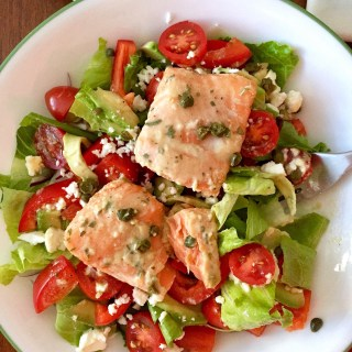 Honey Dijon Salmon Salad with Capers and Tarragon