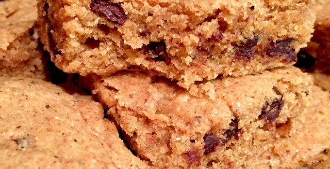 Maple Chai Chocolate Chip Almond Butter Bars