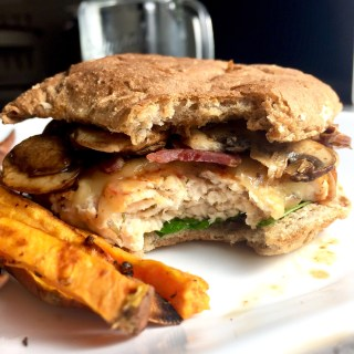 Bacon and Balsamic Mushroom Chicken Burger