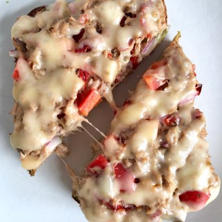 Spanish Olive, Sun-dried Tomato, Smoked Gouda Tuna Melt