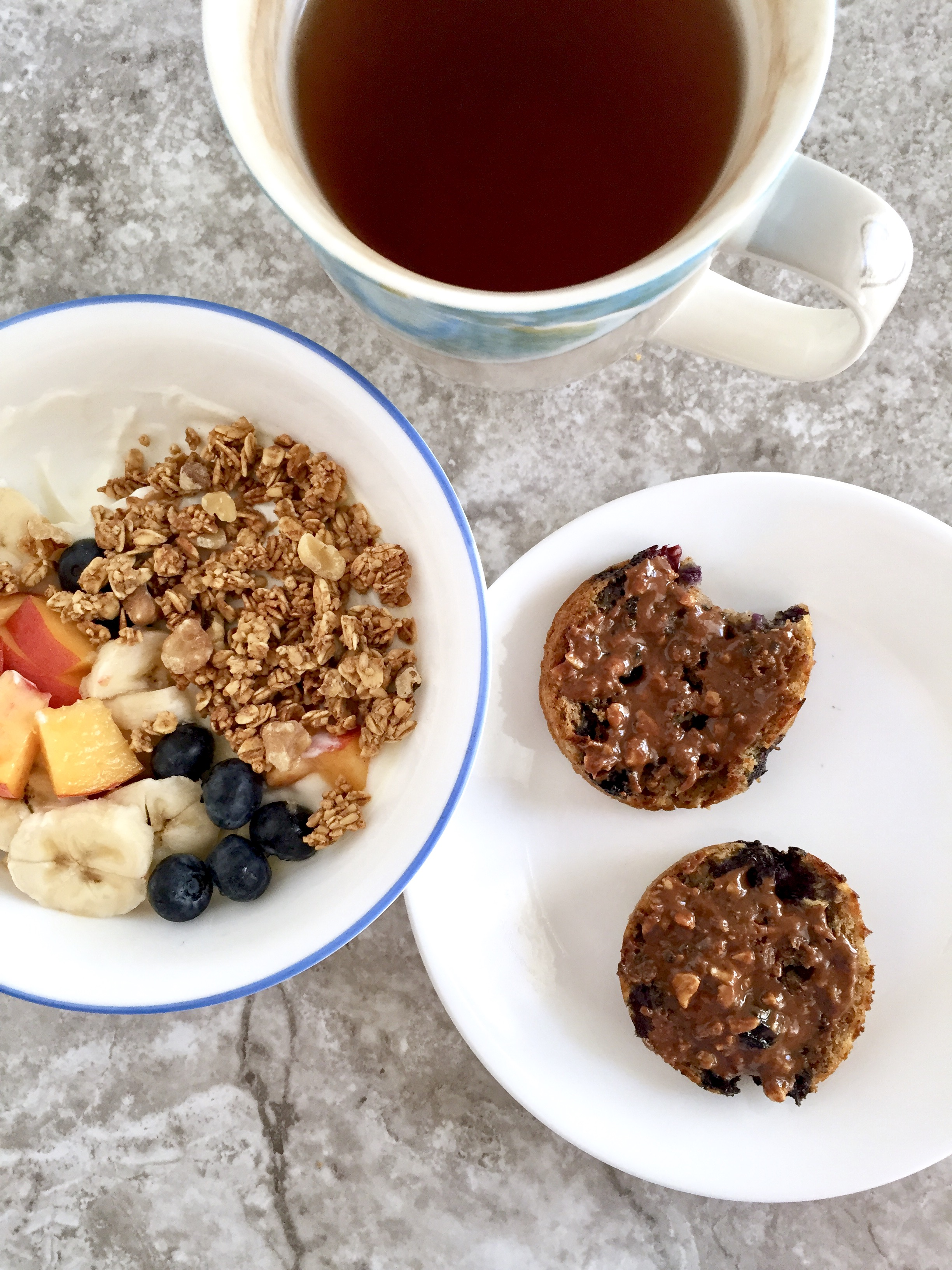Blueberry Oat Flax Muffins