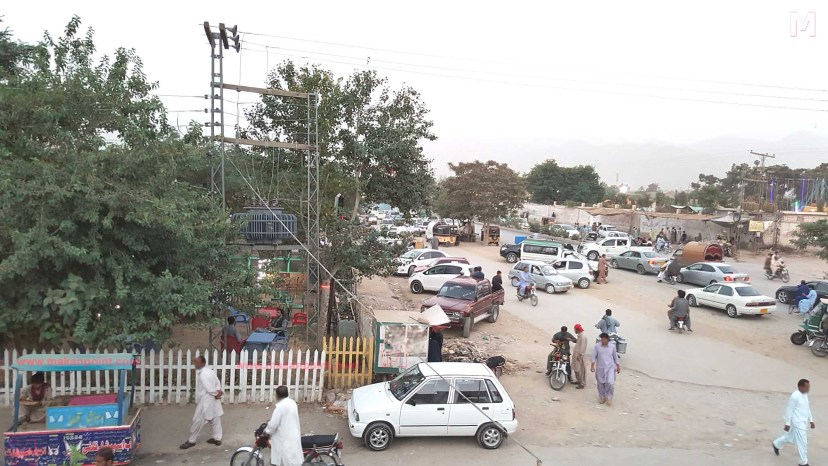 Park and food point at samungli road Quetta