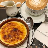 Desserting and coffee time after a long shopping.. Cafe miel is Paul's expression of coffee, espresso with honey and cinnamon