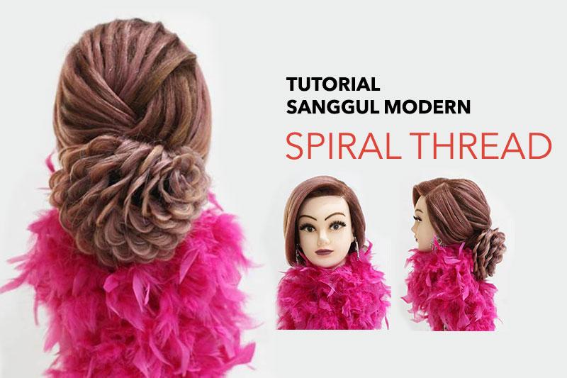 Tutorial Sanggul Modern Spiral Thread Makarizo Hair Trend