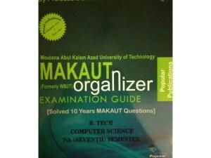 CSE 7th Semester (WBUT) Makaut Organizer Guide Book