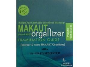 MBA 1st Semester (WBUT) Makaut Organizer Guide Book