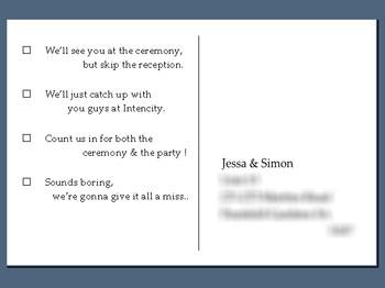 Rsvp Wording For Wedding Invite